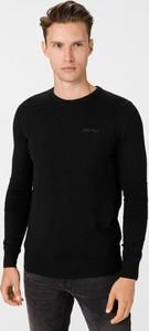 Czarny sweter Antony Morato z wełny z okrągłym dekoltem