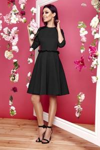 Czarna sukienka Lemoniade midi z długim rękawem