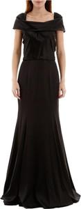 Czarna sukienka Dolce & Gabbana z jedwabiu maxi