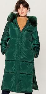 Turkusowy płaszcz Mohito
