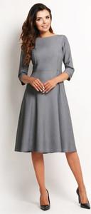 Sukienka Awama midi z okrągłym dekoltem