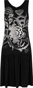 Sukienka Desigual bez rękawów z okrągłym dekoltem midi