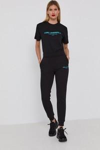 T-shirt Karl Lagerfeld z okrągłym dekoltem z krótkim rękawem z bawełny