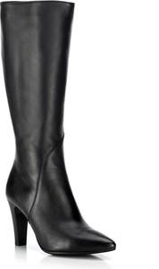 Czarne kozaki Wittchen w stylu klasycznym przed kolano na obcasie