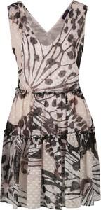 Sukienka Trussardi Jeans mini trapezowa z dekoltem w kształcie litery v