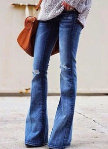 Niebieskie jeansy Sandbella w stylu casual z jeansu