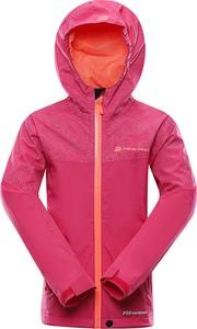 Różowa kurtka dziecięca Lavard z tkaniny