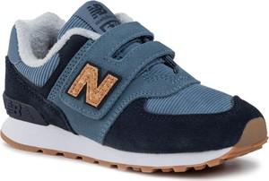 Niebieskie buty sportowe dziecięce New Balance na rzepy