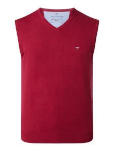 Czerwona kamizelka Fynch Hatton z bawełny