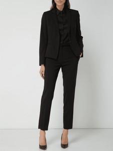 Czarne spodnie Hugo Boss z wełny w stylu klasycznym