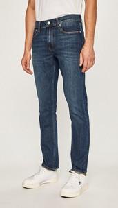 Niebieskie jeansy Calvin Klein z bawełny