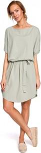 Sukienka MOE z bawełny z krótkim rękawem