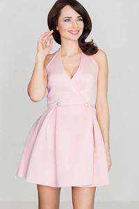 Sukienka Katrus rozkloszowana mini z dekoltem w kształcie litery v