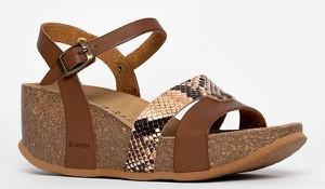Sandały Backsun ze skóry na średnim obcasie