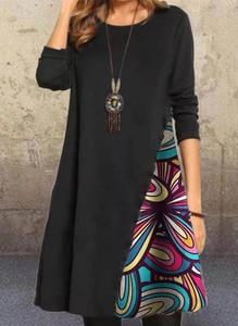 Czarna sukienka Cikelly mini z długim rękawem