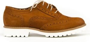 Półbuty Zapato ze skóry sznurowane