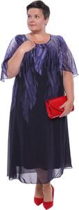 Sukienka modneduzerozmiary.pl z szyfonu