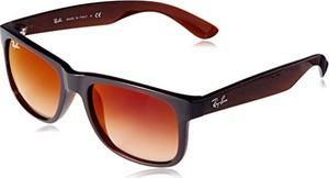 Ray-Ban Justin brązowy Gradient Mirror 51 okulary przeciwsłoneczne