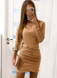 Sukienka Pakuten mini w stylu casual z długim rękawem