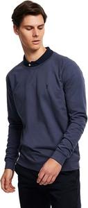 Niebieska bluza Limango Polska z bawełny