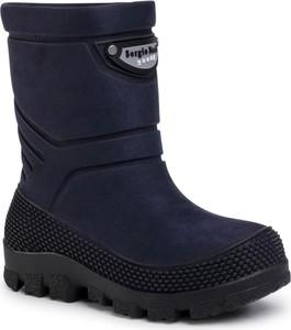 Granatowe buty dziecięce zimowe eobuwie.pl na zamek