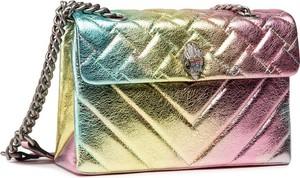 Złota torebka Kurt Geiger średnia z nadrukiem
