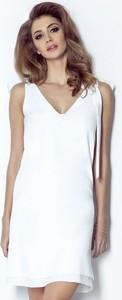 Sukienka Ivon z dekoltem w kształcie litery v na ramiączkach prosta