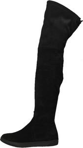 Czarne kozaki Darbut ze skóry w stylu casual