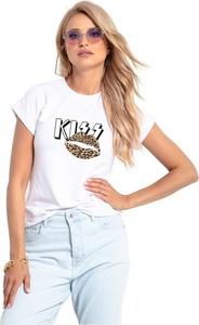 Bluzka Knitis z krótkim rękawem w młodzieżowym stylu