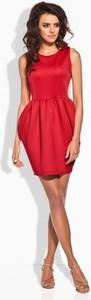 Czerwona sukienka TAGLESS bombka mini z okrągłym dekoltem