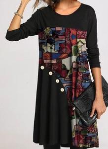 Sukienka Cikelly mini z okrągłym dekoltem w stylu casual