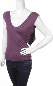 Fioletowa bluzka Laltramoda w stylu casual