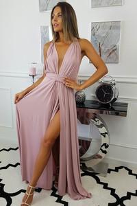 Sukienka fashion-freak.pl bez rękawów z dekoltem w kształcie litery v