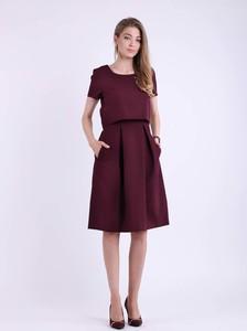 Sukienka Nommo z krótkim rękawem z okrągłym dekoltem