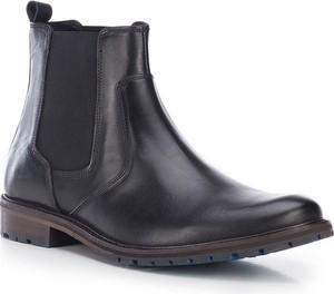 Granatowe buty zimowe Wittchen ze skóry