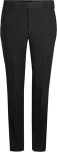 Czarne spodnie liu-jo bez wzorów z tkaniny