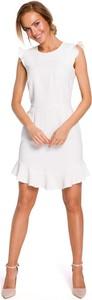Sukienka MOE w stylu casual z okrągłym dekoltem