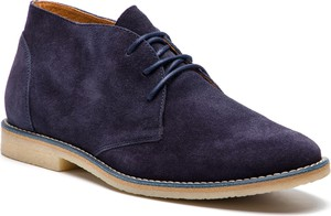 Buty zimowe Gino Rossi sznurowane z zamszu w stylu casual