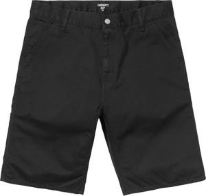 Czarne spodenki Carhartt WIP z bawełny