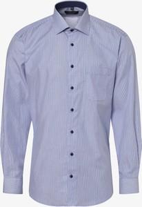 Niebieska koszula Andrew James z klasycznym kołnierzykiem z długim rękawem