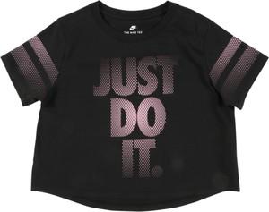 Czarna koszulka dziecięca Nike Sportswear z dżerseju