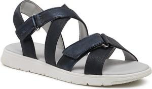 Czarne sandały Geox w stylu casual z klamrami