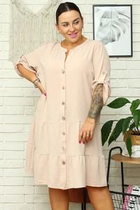 Sukienka KARKO w stylu casual szmizjerka