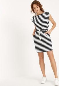 Sukienka Diverse w stylu boho mini na ramiączkach