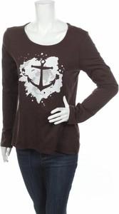 Brązowa bluzka Dreimaster z okrągłym dekoltem