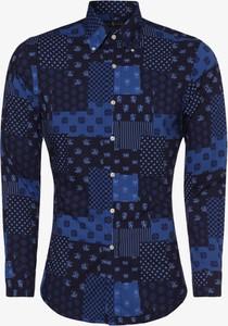 Niebieska koszula POLO RALPH LAUREN z kołnierzykiem button down z długim rękawem