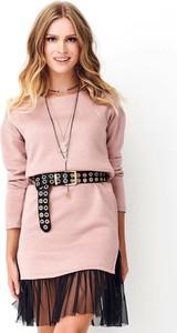 Sukienka Makadamia w stylu casual z długim rękawem