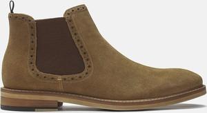 Brązowe buty zimowe Kazar z zamszu