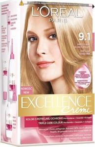L'Oreal Paris L'Oreal Excellence Creme krem do każdego typu skóry koloryzujący 9.1 bardzo jasny blond popielaty 176 ml