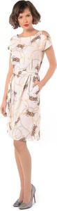 Sukienka Rita Koss asymetryczna z krótkim rękawem z okrągłym dekoltem